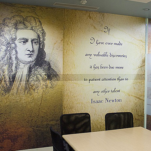 Backdrop printed banner for office in Orlando, FL