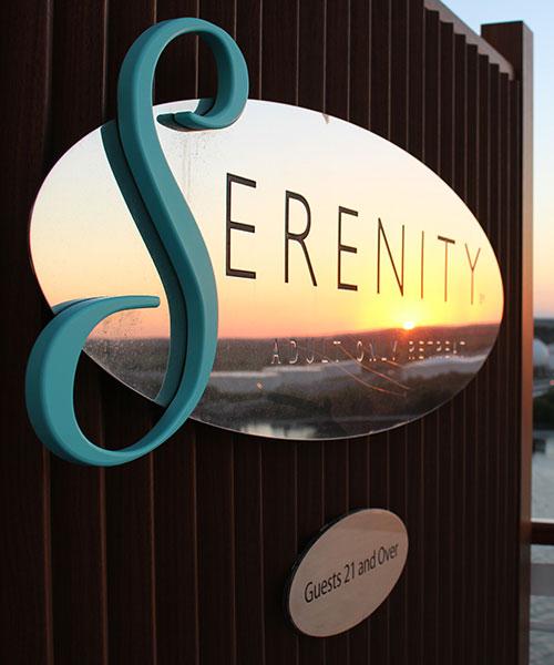 Serenity outdoor custom signs in Orlando, FL